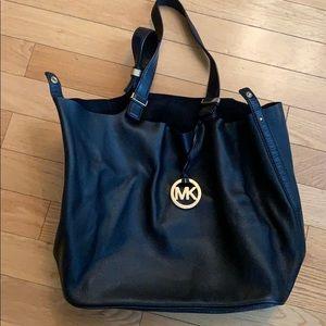 Michael Kors black full leather purse